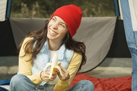 Beanie, Facial expression, Knit cap, Smile, Headgear, Cap, Sitting, Fun, Happy, Photography,