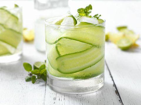 Food, Drink, Alcoholic beverage, Cocktail garnish, Caipiroska, Plant, Vegetable juice, Ingredient, Non-alcoholic beverage, Distilled beverage,