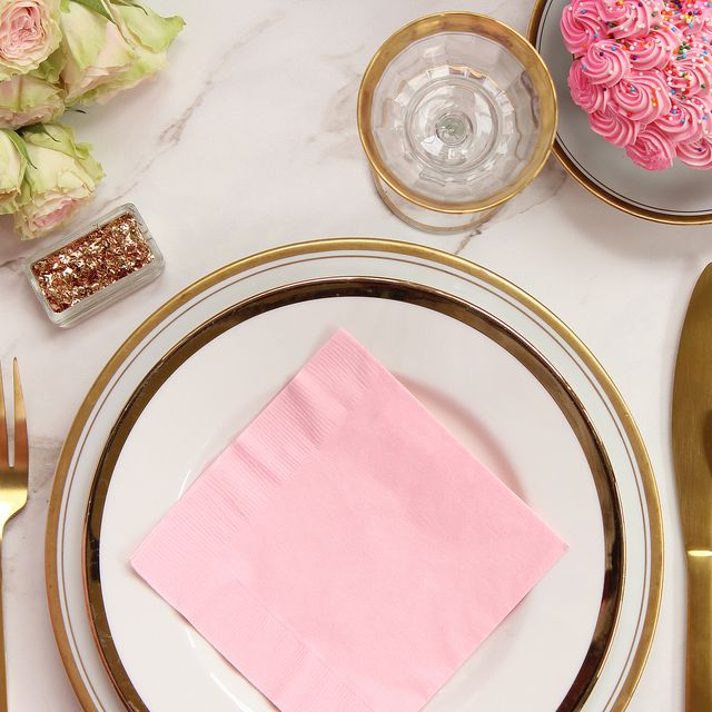 Pink, Napkin, Table, Linens, Fork, Tablecloth, Tableware, Cutlery, Textile, Food,