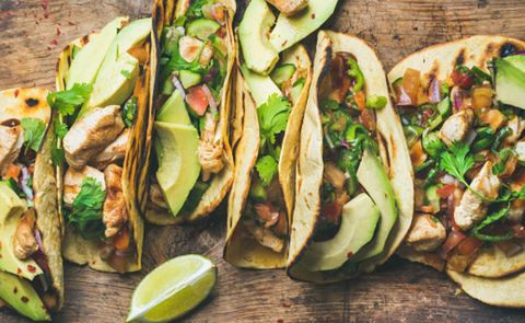 Food, Dish, Taco, Cuisine, Korean taco, Ingredient, Zucchini, Produce, Vegetable, Plant,