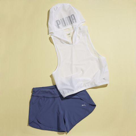 White, Clothing, Product, Yellow, Sportswear, Shorts, Uniform, Blouse, Sleeve,