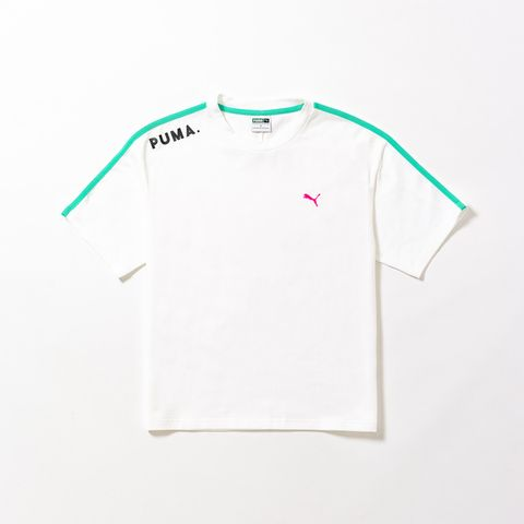 T-shirt, White, Clothing, Sleeve, Product, Text, Pink, Font, Active shirt, Top,