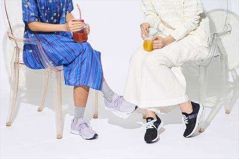 White, Footwear, Leg, Fashion, Joint, Shoulder, Knee, Shoe, Dress, Human leg,