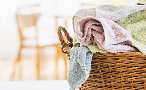 Towel, Textile, Linens, Linen, Blanket, Beige, Interior design, Table, Wool, Pattern,