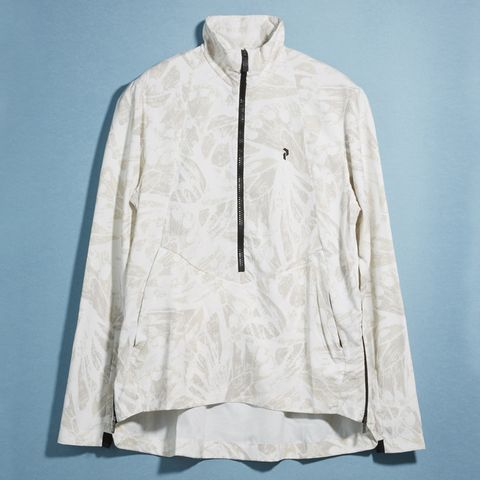 Clothing, White, Outerwear, Sleeve, Jacket, Clothes hanger, Windbreaker, Beige, Collar, Top,