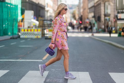 Photograph, Street fashion, Pink, Clothing, Fashion, Snapshot, Footwear, Yellow, Beauty, Shoe,