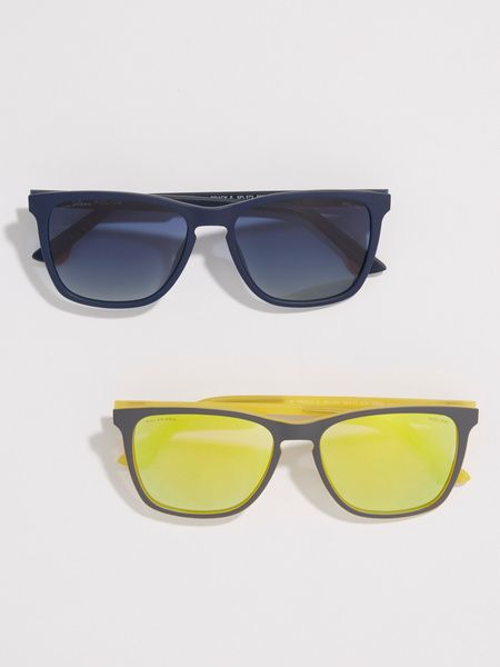 Eyewear, Sunglasses, Glasses, Yellow, Personal protective equipment, Product, Goggles, Vision care, Transparent material, Eye glass accessory,