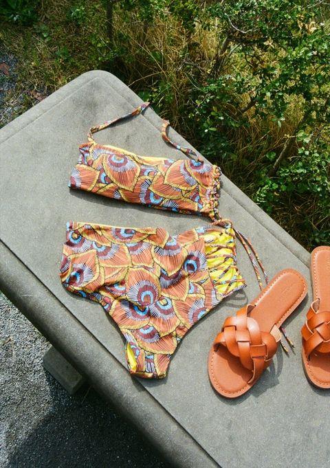 Orange, Textile, Visual arts, Metal, Leather, Art,