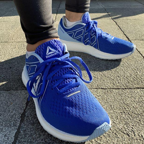 Footwear, Blue, Shoe, Cobalt blue, Electric blue, Cool, Sneakers, Plimsoll shoe, Outdoor shoe, Leg,