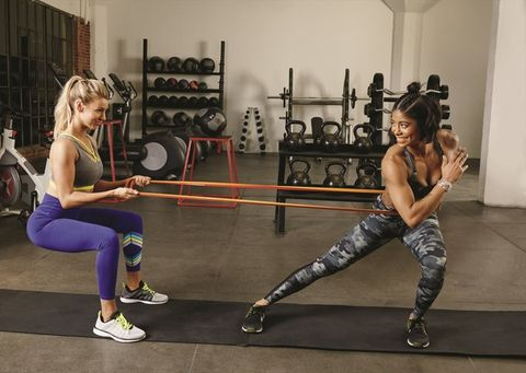 Physical fitness, Room, Strength training, Leg, Exercise, Dance, Sportswear, Lunge, Gym, Chest,
