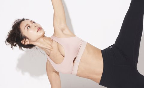 Physical fitness, Leg, Arm, Sportswear, Beauty, Skin, Shoulder, Abdomen, Pilates, Thigh,