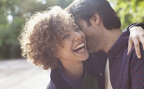Hair, Facial expression, Romance, Love, Smile, Forehead, Friendship, Interaction, Happy, Cheek,