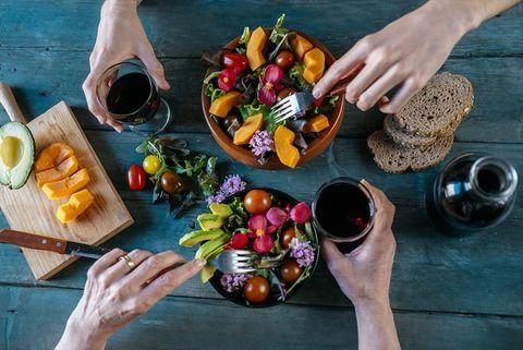 Food, Still life photography, Hand, Cuisine, Dish, Table, Vegetarian food, Vegetable, Meal, Brunch,