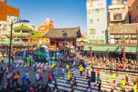 People, Crowd, Town, Yellow, Sky, Fun, Urban area, Tourism, City, Carnival,