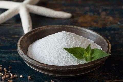 Sea salt, Ingredient, Food, Table sugar, Sugar, Herb, Seasoning, Kosher salt, Cuisine, Bowl,