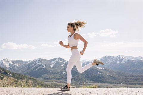 White, Running, Recreation, Physical fitness, Individual sports, Jogging, Exercise, Happy, Leg, Sports,