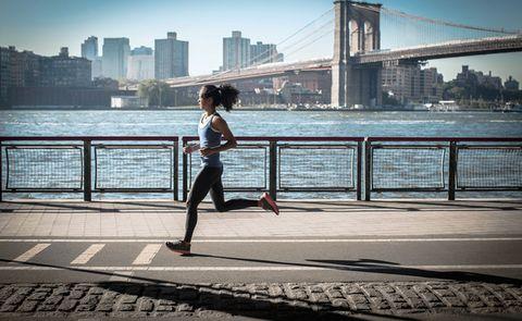 Water, Running, Urban area, Sky, Bridge, Snapshot, Jogging, Recreation, City, Leg,