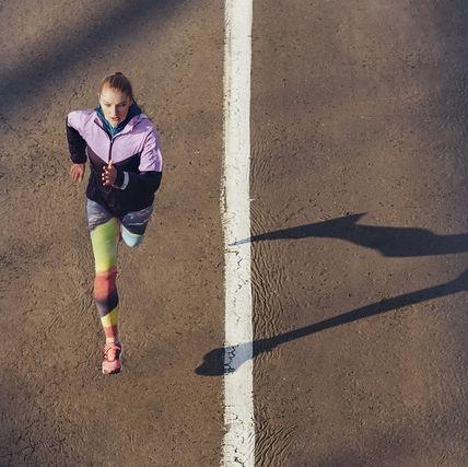 Shadow, Line, Running, Photography, Leg, Recreation, Shoe, Knee, Asphalt, Human leg,