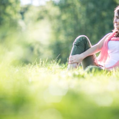People in nature, Nature, Photograph, Green, Grass, Sunlight, Sitting, Light, Natural landscape, Natural environment,