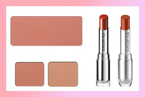 Cosmetics, Product, Pink, Beauty, Eye, Orange, Tints and shades, Lipstick, Eye shadow, Material property,