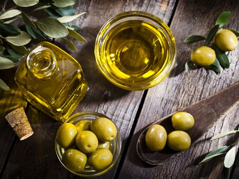 Olive, Food, Fruit, Meyer lemon, Lemon, Extra virgin olive oil, Ingredient, Plant, Cooking oil, Olive oil,