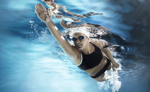 Water, Swimming, Swimming pool, Recreation, Fun, Leisure, Sky, Happy, Personal protective equipment, Summer,