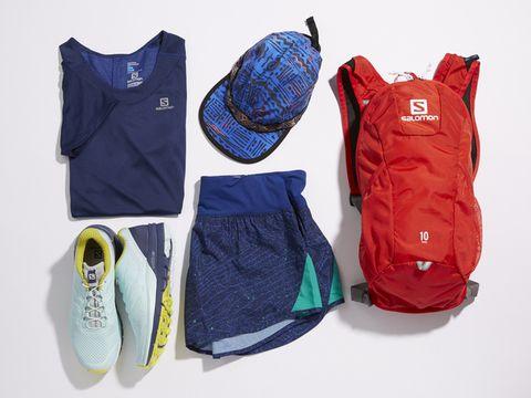 Blue, Clothing, Product, Red, Footwear, Sportswear, Cobalt blue, Outerwear, Electric blue, Shoe,