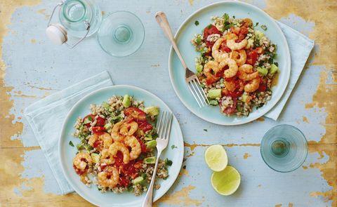 Dish, Food, Cuisine, Ingredient, Couscous, Produce, Vegetarian food, Staple food, Pasta salad, Vegetable,
