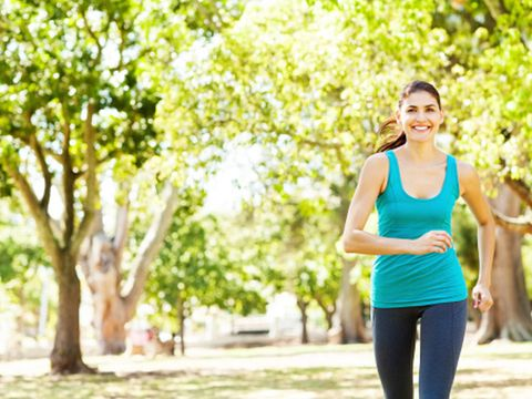 People in nature, Running, Jogging, Physical fitness, Green, Exercise, Recreation, Leisure, Individual sports, Tree,