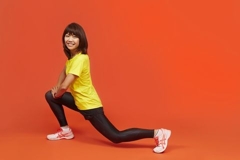 Red, Yellow, Thigh, Leg, Joint, Knee, Arm, Sitting, Lunge, Human leg,