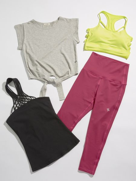 Clothing, Pink, Product, Trousers, Crop top, Sleeve, Active pants, camisoles, Blouse, Leggings,