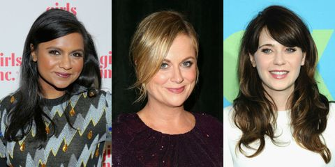 Mindy Kaling, Amy Poehler, Zooey Deschanel Golden Globes