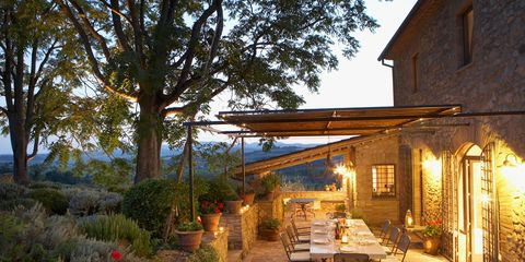 Lighting, Plant, Garden, House, Flowerpot, Real estate, Home, Outdoor table, Chair, Backyard,