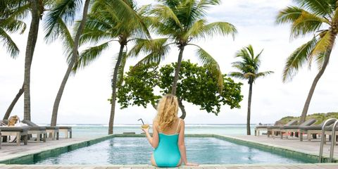 Leisure, Arecales, Summer, Woody plant, Vacation, Resort, Tropics, Thigh, Physical fitness, Waist,