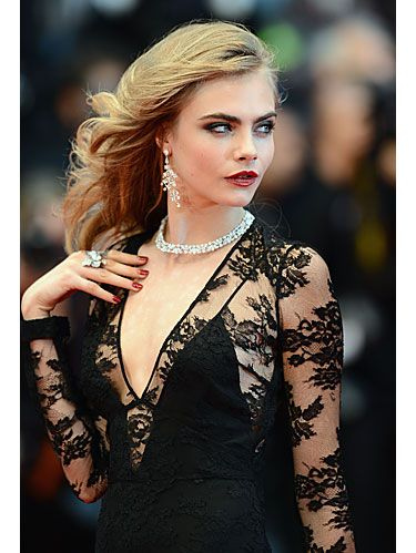 Lip, Hairstyle, Jewellery, Earrings, Fashion model, Eyelash, Style, Dress, Fashion accessory, Body jewelry,