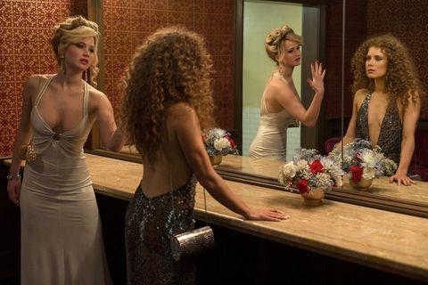 Hair, Hairstyle, Table, Interior design, Beauty, Fashion accessory, Fashion, Dress, Waist, Hair accessory,