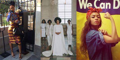 Rihanna, Solange, Beyonce Instagram Fashion Moments