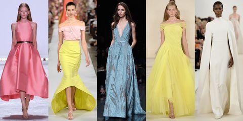 Yellow, Dress, Shoulder, Textile, Formal wear, One-piece garment, Style, Waist, Fashion model, Beauty,