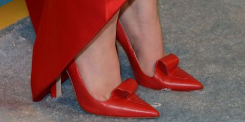 Human leg, Red, High heels, Shoe, Sandal, Basic pump, Carmine, Orange, Fashion, Court shoe,