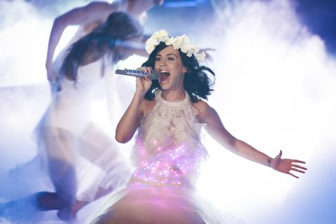 Katy Perry Promises Female Empowerment, High Spirits at Super Bowl Halftime Show
