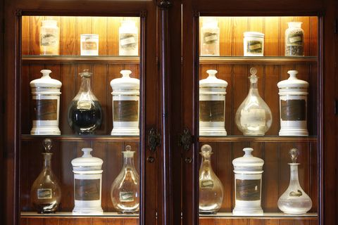 Glass, Collection, Display case, Shelving, Bottle, Artifact, Natural material, Shelf, Transparent material, Still life photography,