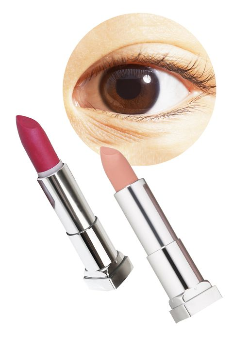 Brown, Lipstick, Beige, Peach, Silver, Eye liner, Cosmetics, Eye shadow, Cylinder, Ammunition,