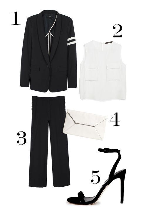 Collar, Sleeve, Formal wear, Style, High heels, Dress shirt, Blazer, Button, Sandal, Pocket,