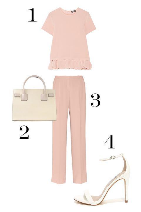 Product, Sleeve, Collar, White, Clothes hanger, Beige, High heels, Khaki, Bag, Pocket,