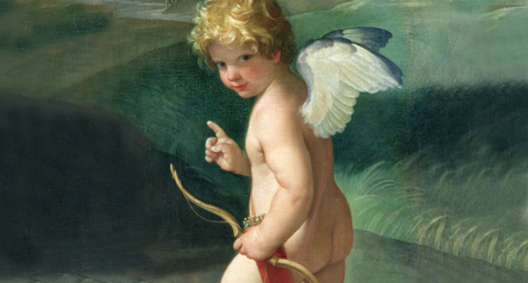 Human, Cheek, Fictional character, Angel, Child, People in nature, Chest, Art, Wing, Muscle,