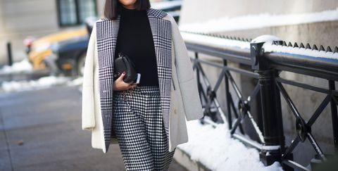 Clothing, Winter, Textile, Outerwear, Coat, Style, Street fashion, Bag, Pattern, Fashion,