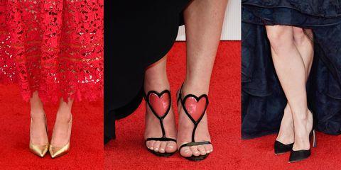 Footwear, Leg, Human leg, Toe, Red, Shoe, Joint, Pink, Foot, Carmine,