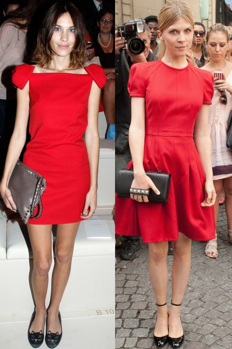 Clothing, Footwear, Dress, Shoulder, Red, Joint, Outerwear, Fashion accessory, Style, Bag,