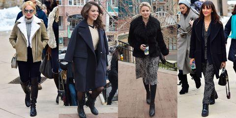Clothing, Footwear, Leg, Winter, Trousers, Coat, Textile, Outerwear, Jacket, Style,