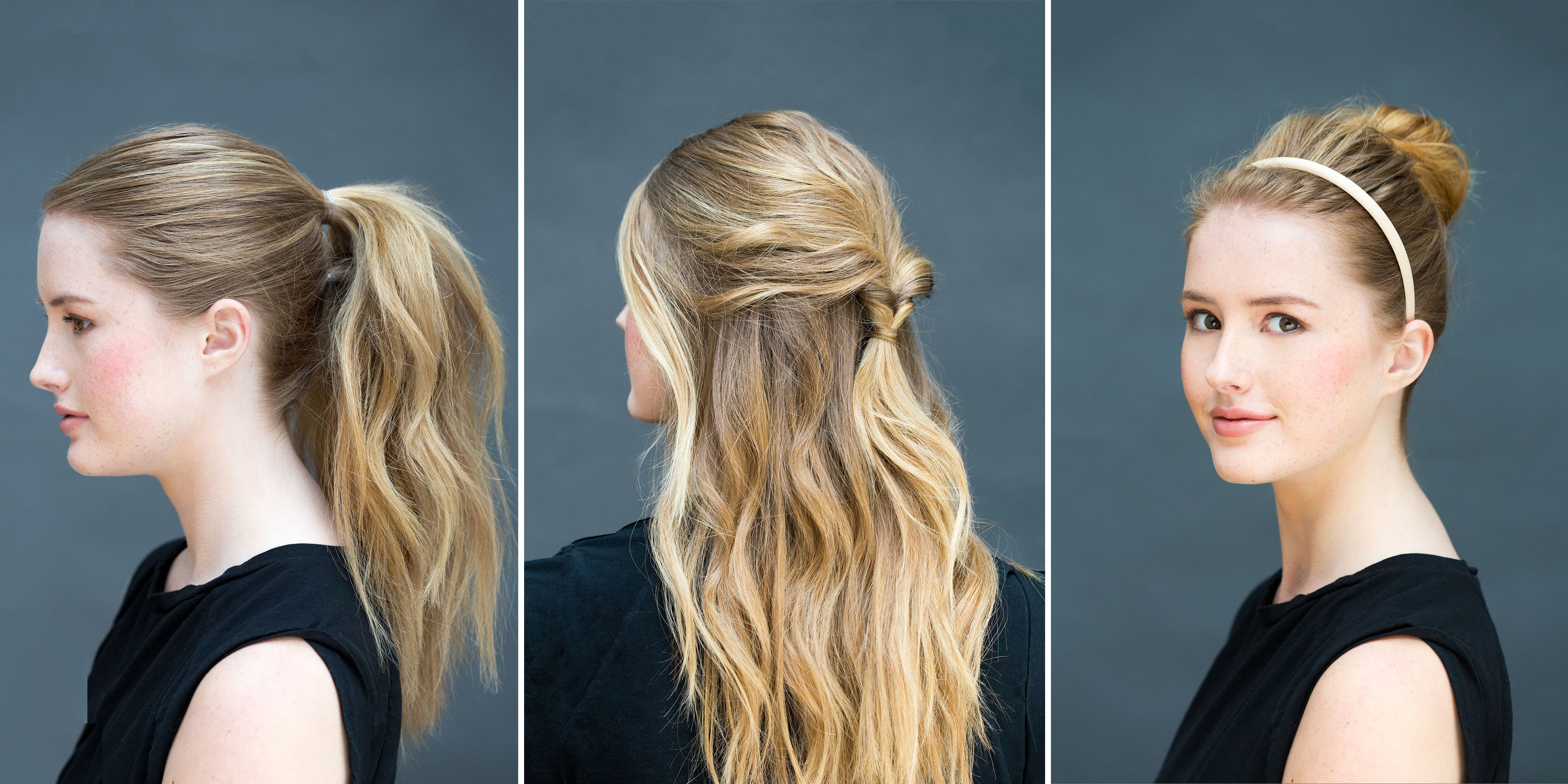 Easy to do hairstyles at home for medium hair.